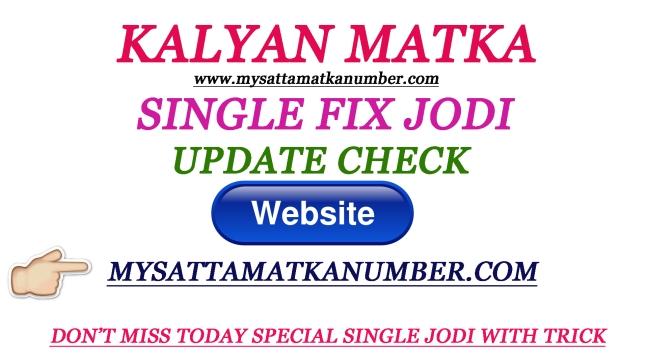 Today Kalyan Matka Jodi – Satta Matka | Today Satta Matka